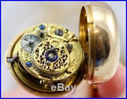 Vintage Pocket Watch Edward Prior Enamel Three Part Cased, 18K Gold, Circa 1813