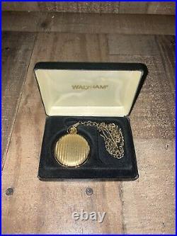 Vintage Waltham Mens Pocket Watch in Case