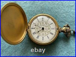 Vintage Westclox Mechanical Wind Up Pocket Watch with the case