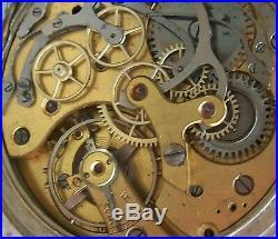 Vintage Xfine Pocket Watch Chronograph open face nickel chromiun case