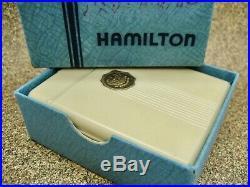 Vtg Hamilton 950b Pocket Watch With Bakelite Case & Box In Great Condition
