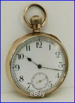 Vtg c1900 Labrador Louis Brandt (Omega) Fahys USA Gold Plate Cased Pocket Watch