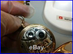 WALTHAM 16s POCKET WATCH/15j/GF HUNTER CASE/SERVICED/RUNS GOOD
