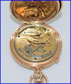 WALTHAM HILLSIDE 1884 CHRONOGRAPH Pocket Watch 14s 13j Hunting Case SERVICED
