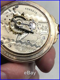 WALTHAM PRIVATE LABEL MODEL 1883 POCKET WATCH WithBOX HINGE HUNTER CASE