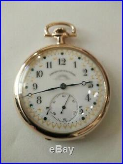 Waltham 12S. 19 jewels fancy dial (1904) colonial Riverside 14K Gold Filled Case