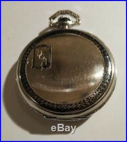 Waltham 12S. Fancy Dial 15 jewels ART DECO (1919) 14k Gold Filled Enameled Case