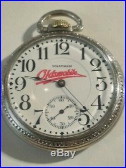 Waltham 16S. 17 jewels (1912) fancy Oldsmobile dial grade No. 625 base case