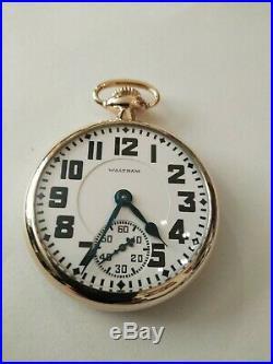 Waltham 16S Crescent St. 21 jewel adjusted Railroad (1926) 14K. Gold Filled Case