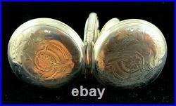 Waltham 18 Size 17 Jewel Appleton Tracy Fancy Silver Hunter Case Extra Fine