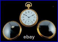 Waltham 18 Size 17 Jewel M#92 2 Tone Custom Display Case and. Case Extra Fine