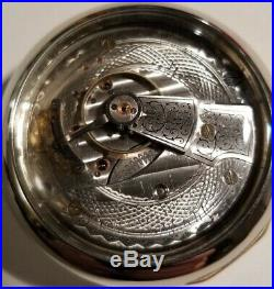 Waltham 18S. 17 Jewel Great Fancy Dial (1909) Grade 825 glass back display case