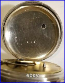 Waltham 18S (1868) Home Watch Co. 7J. Key wind pocket watch Coin silver case