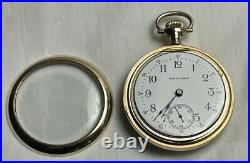 Waltham 1904 18S 15j Open Face Pocket Watch Gold-Filled 20-Year Case Works