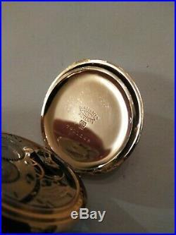 Waltham (1908) 15 jewels mint fancy dial 14K. Gold filled diamond hunter case