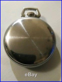Waltham G. C. T. 22 jewel (1943) center second military pocket watch base case