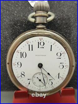 Waltham Model 1883 Grade 81 Pocket Watch 18s 15j Running Coin Silver Case