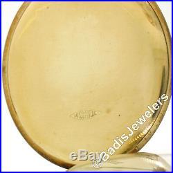 Waltham No. 625 17j Hand Wind Pocket Watch 14k Gold ROY Hunter Case 100% Working