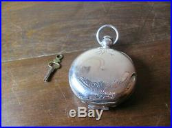 Waltham PS Bartlett 18s Key Wind Hunting Case Pocket Watch