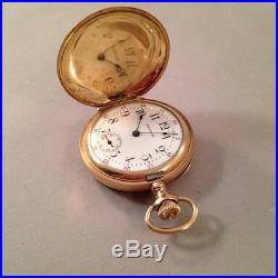 Waltham Pocket Watch 7j Size 0s 20 year GF case Runs Leaf Motif Engraved