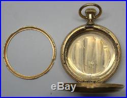 Waltham Riverside 14 K Solid Gold Hunter Pocket Watch Case Only 65838-1 Dbw