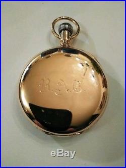 Waltham Riverside 15 jewels adjusted Fancy Dial 14K. Gold Filled Case