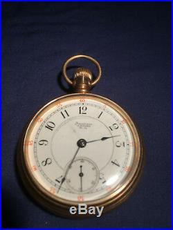 Waltham model 1883 18s pocket watch in gold filled case