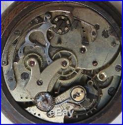 XFine Chronograph Chronometer Pocket Watch open face gun case 54,5 mm. In diam