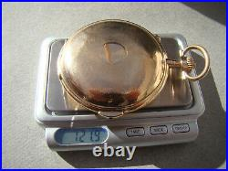 XXL ANTIQUE 14k ROSE GOLD HUNTER CASE QUARTER REPEATER CHRONOGRAPH POCKET WATCH